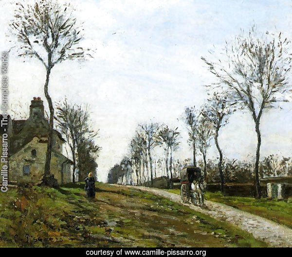 Road in Louveciennes, 1870