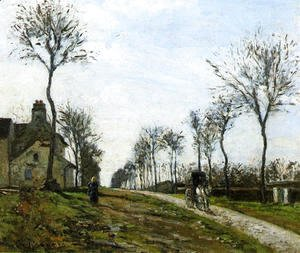 Camille Pissarro - Road in Louveciennes, 1870
