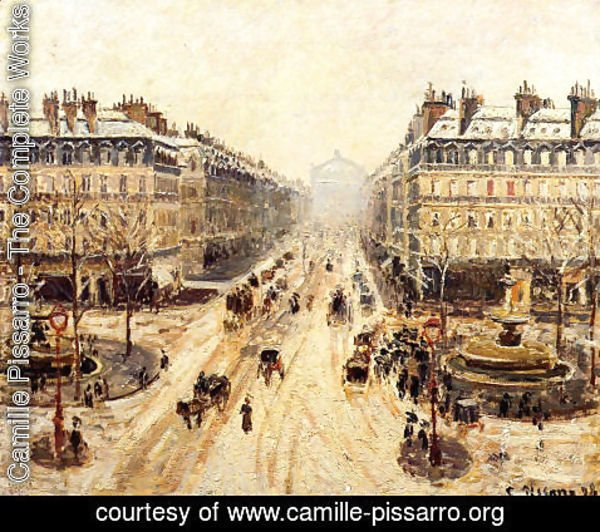 Camille Pissarro - Avenue de l'Opera - Effect of Snow, 1898