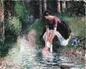 Woman Washing Her Feet in a Brook, 1894