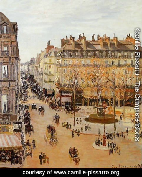 Camille Pissarro - Rue Saint-Honore, Sun Effect, Afternoon, 1898