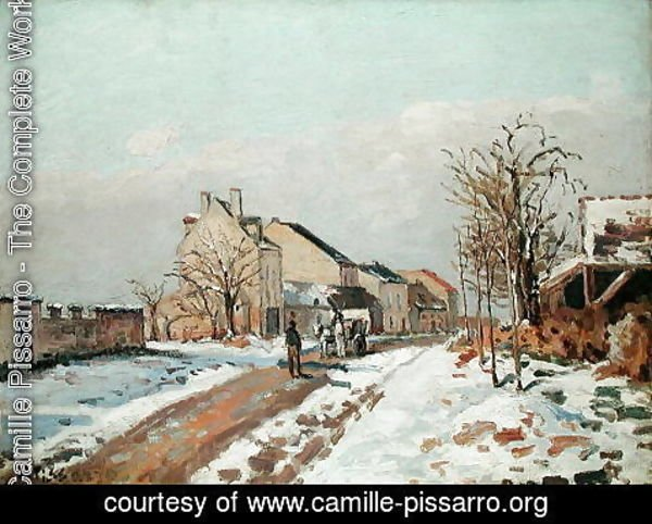 Camille Pissarro - The Road from Gisors to Pontoise, Snow Effect, 1872