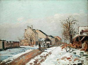 The Road from Gisors to Pontoise, Snow Effect, 1872