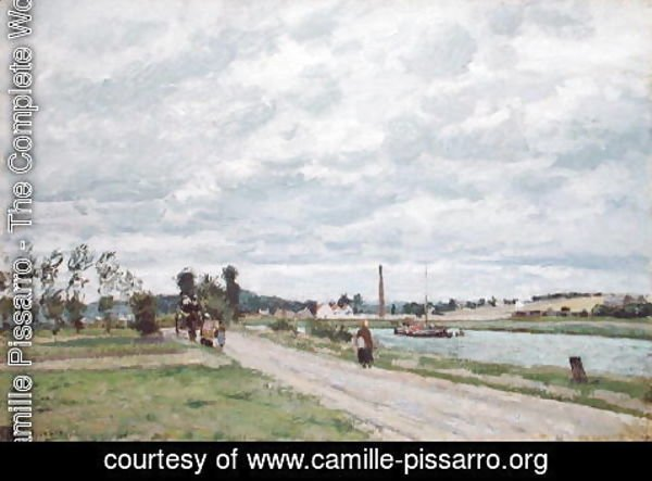 Camille Pissarro - The Banks of the Oise near Pontoise, 1873