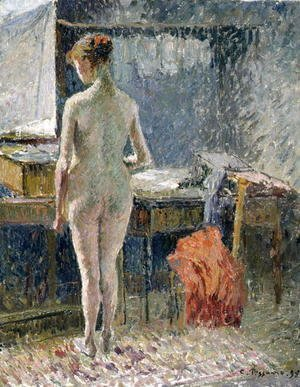 Camille Pissarro - Female Nude seen from the Back, 1895