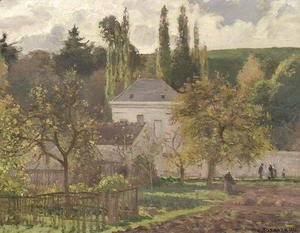 Camille Pissarro - House in the Hermitage, Pontoise, 1873