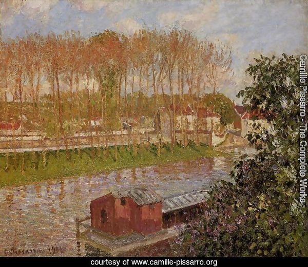 Sunset at Moret-sur-Loing, 1901
