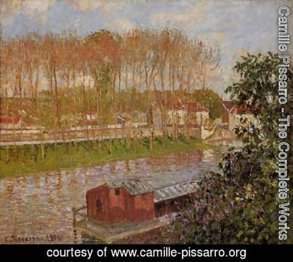 Camille Pissarro - Sunset at Moret-sur-Loing, 1901