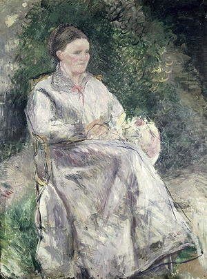 Camille Pissarro - Portrait of Julie Velay, Wife of the Artist, c.1874