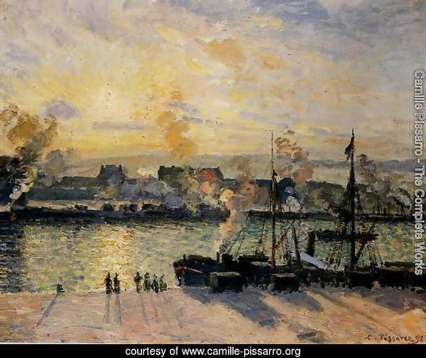 Sunset, The Port of Rouen (Steamboats) 1898