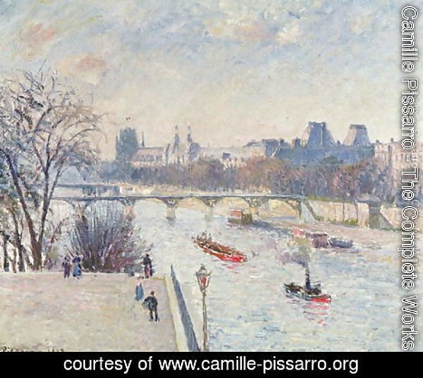 Camille Pissarro - The Louvre, 1902
