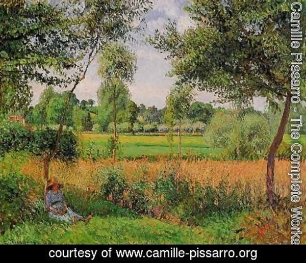 Camille Pissarro - Morning, Sunlight Effect, Eragny, 1899