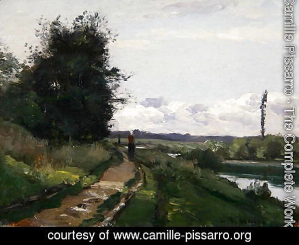 Camille Pissarro - The Banks of the Seine at Bougival, 1864