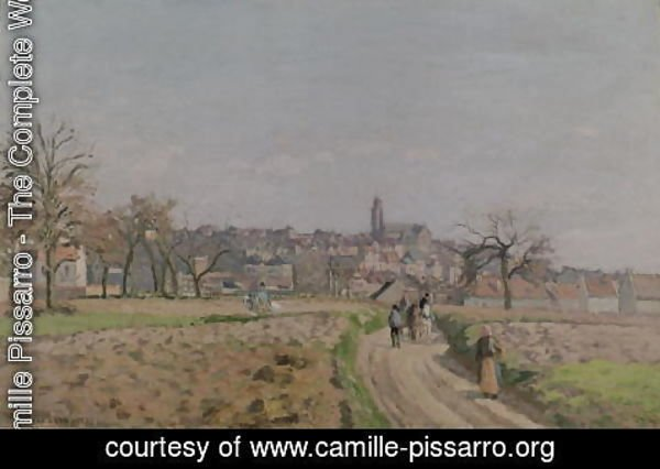 Camille Pissarro - View of Pontoise, 1873 (2)