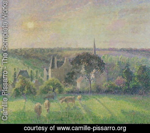 Camille Pissarro - The Church and Farm of Eragny, 1895
