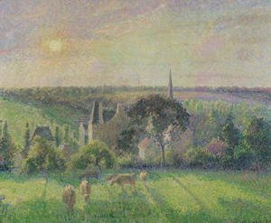 The Church and Farm of Eragny, 1895