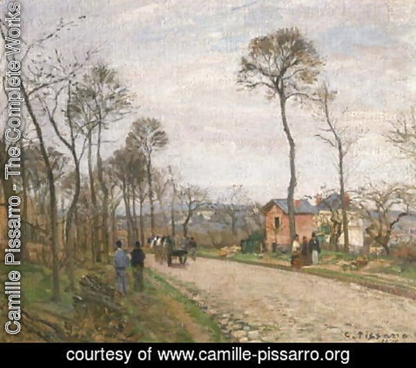 Camille Pissarro - The Road from Louveciennes, 1870