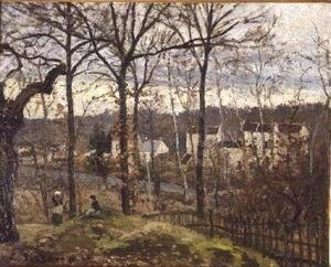 Camille Pissarro - Winter Landscape at Louveciennes, c.1870
