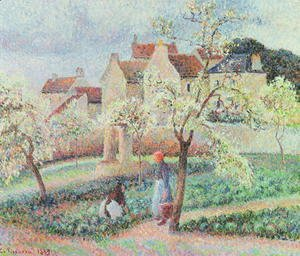 Camille Pissarro - Plum Trees in Flower, 1889