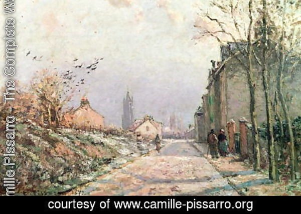 Camille Pissarro - The Road, Effect of Winter, 1872