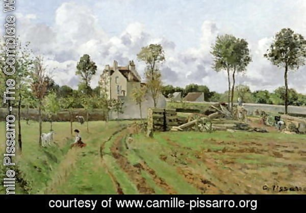 Camille Pissarro - The Vegetable Garden with Trees in Blossom, Spring, Pontoise, 1877