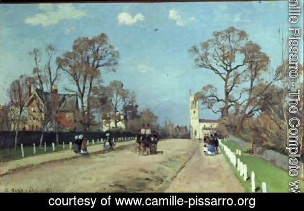 Camille Pissarro - The Road to Sydenham, 1871