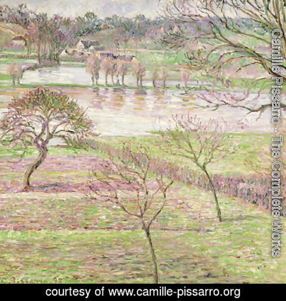 Camille Pissarro - The Flood at Eragny, 1893