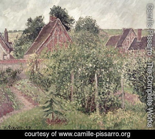 Camille Pissarro - Landscape with Cottage Roofs, 1899