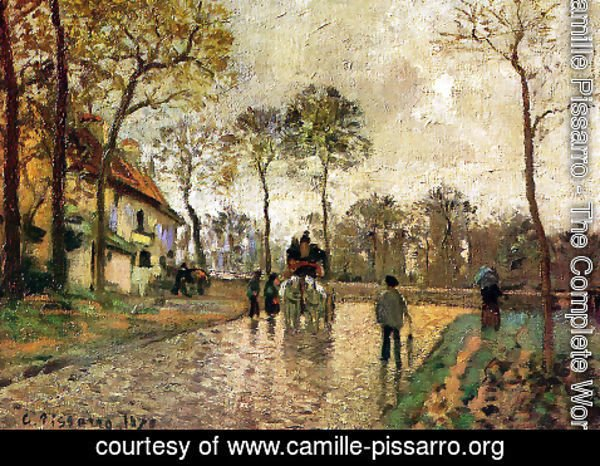 Camille Pissarro - The Coach to Louveciennes, 1870