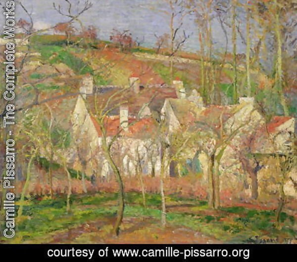 Camille Pissarro - The Red Roofs, or Corner of a Village, Winter, 1877