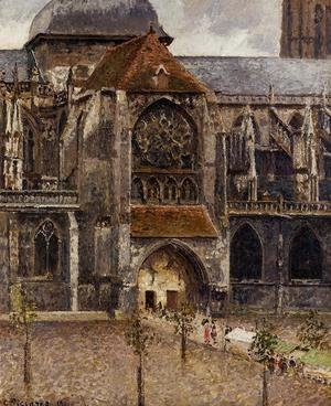 Camille Pissarro - Portal of the Church of St. Jacques, Dieppe, 1901