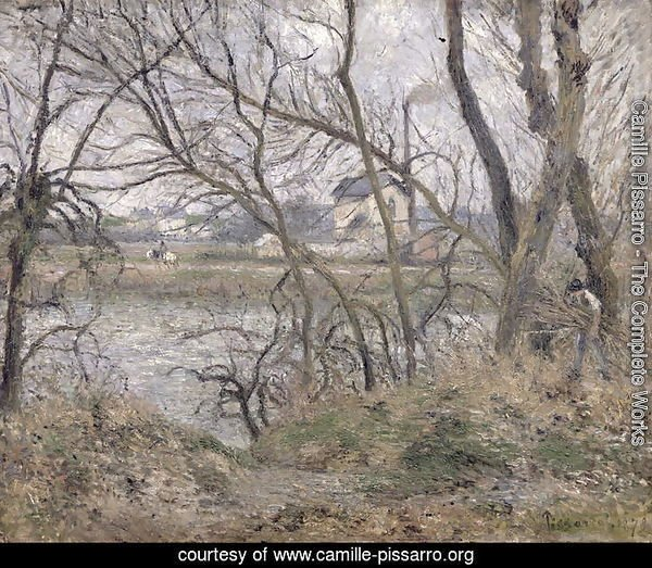 The Banks of the Oise, near Pontoise, Cloudy Weather, 1878