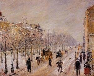 Camille Pissarro - The Outer Boulevards, Snow Effect