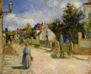 Camille Pissarro - A Street in Pontoise