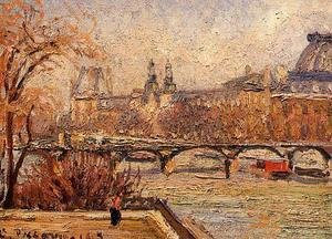 Camille Pissarro - The Louvre - Morning