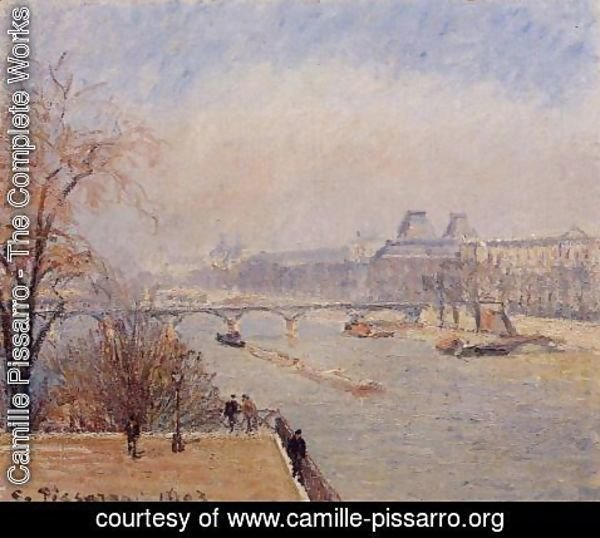 Camille Pissarro - The Louvre - March Mist