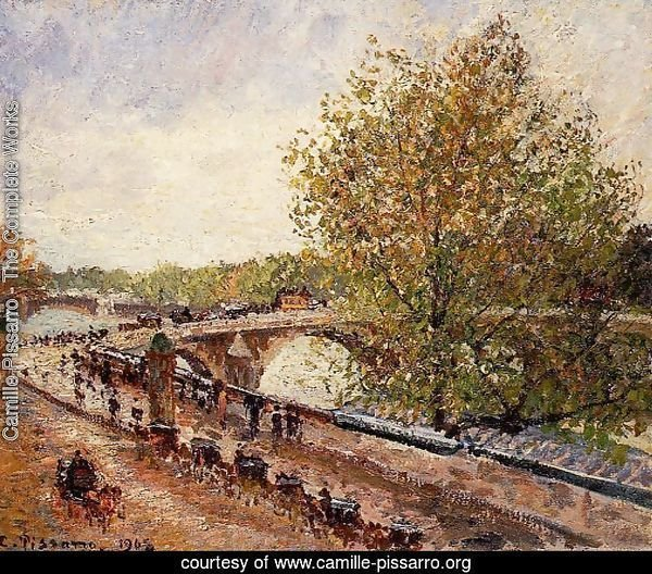The Pont Royal - Grey Weather, Afternoon, Spring