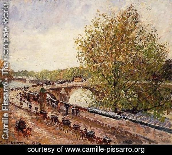Camille Pissarro - The Pont Royal - Grey Weather, Afternoon, Spring