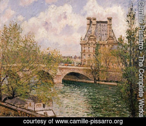 Camille Pissarro - The Pavillion de Flore and the Pont Royal