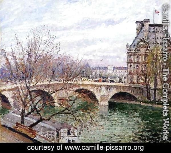 Camille Pissarro - The Pont Royal and the Pavillon de Flore