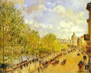 Camille Pissarro - Quai Malaquais in the Afternoon, Sunshine