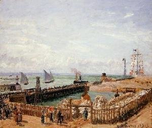 Camille Pissarro - The Jetty, Le Havre - High Tide, Morning Sun