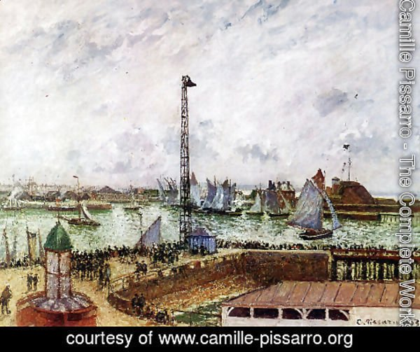 Camille Pissarro - The Pilot's Jetty, Le Havre, Morning, Grey Weather, Misty