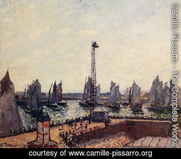 Camille Pissarro - The Inner Port and Pilots Jetty, Le Havre