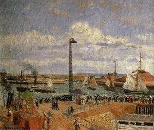 Camille Pissarro - The Pilot's Jetty, Le Havre - High Tide, Afternoon Sun