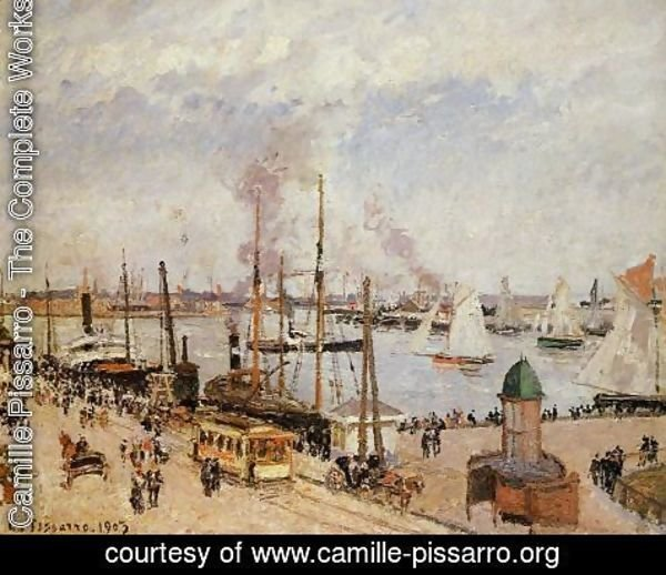 Camille Pissarro - The Port of Le Havre - High Tide