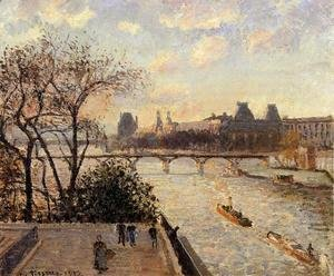 Camille Pissarro - The Louvre and the Seine from the Pont-Neuf
