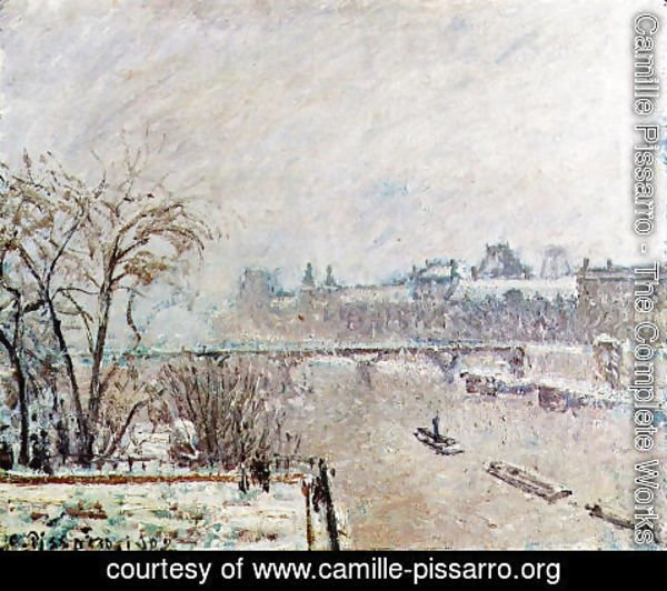 Camille Pissarro - The Seine Viewed from the Pont-Neuf, Winter