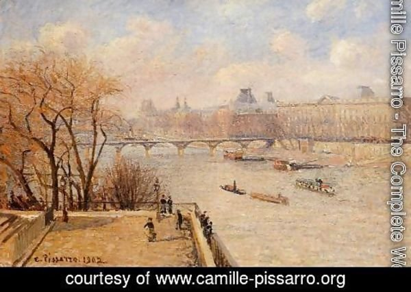 Camille Pissarro - The Raised Terrace of the Pont-Neuf