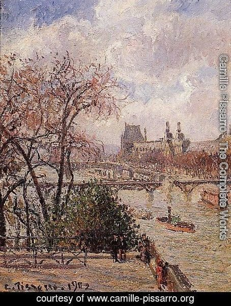 Camille Pissarro - The Louvre, Gray Weather, Afternoon